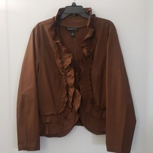 INC Women | Jacket | Ruffle Accent | Size 2X